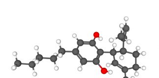 This is an image of a cannabidiol molecule
